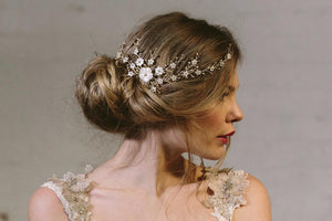 Sylvie gold crystal bohemian wedding hair vine comb