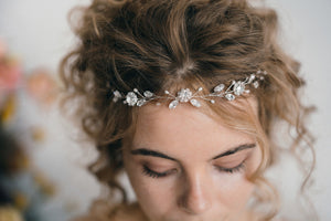 Small crystal wedding browband