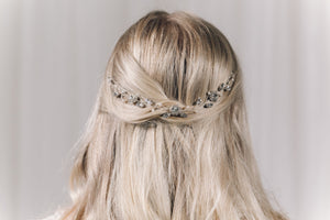 Crystal and pearl bridal wedding hair vine - Thea