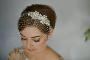 Arabella crystal vintage wedding headband