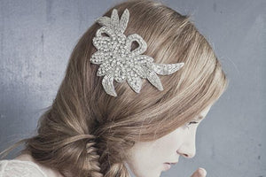 Elegant crystal vintage wedding hair comb - Vivien