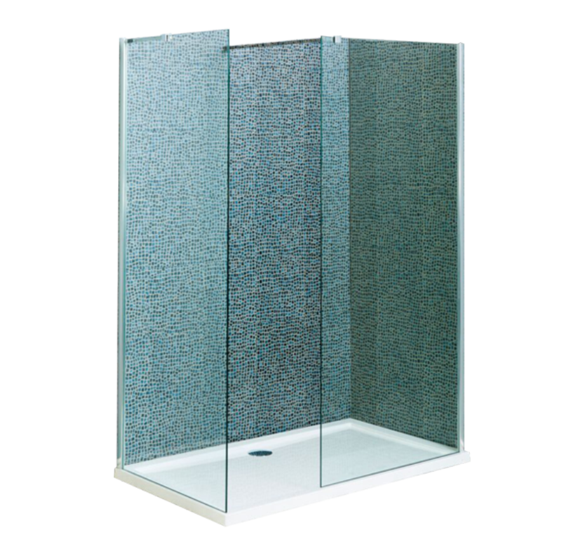 A8 Wet Room Screen  800mm x 755mm