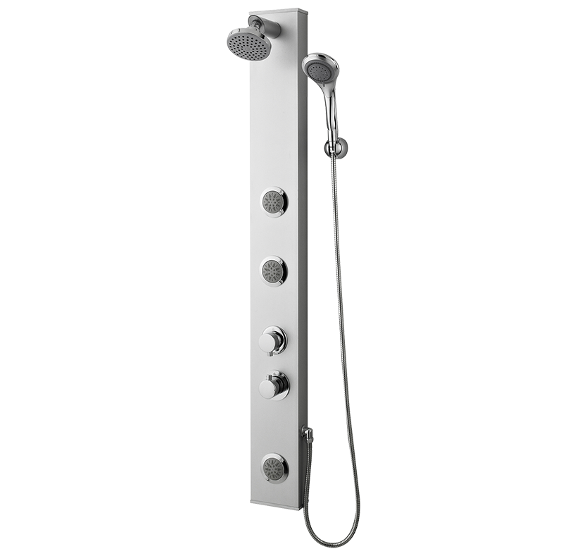 Thermostatic Shower Panel With 3 Body Jets