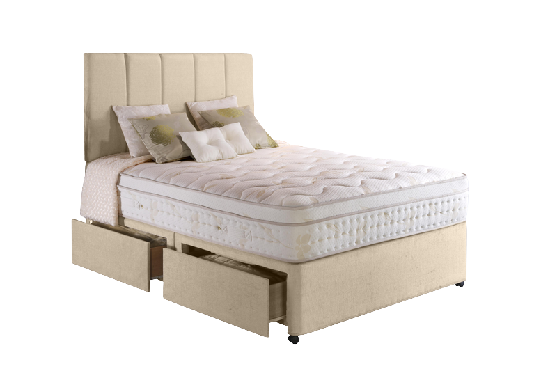 Emily Faux Suede Divan Set - Stone Single