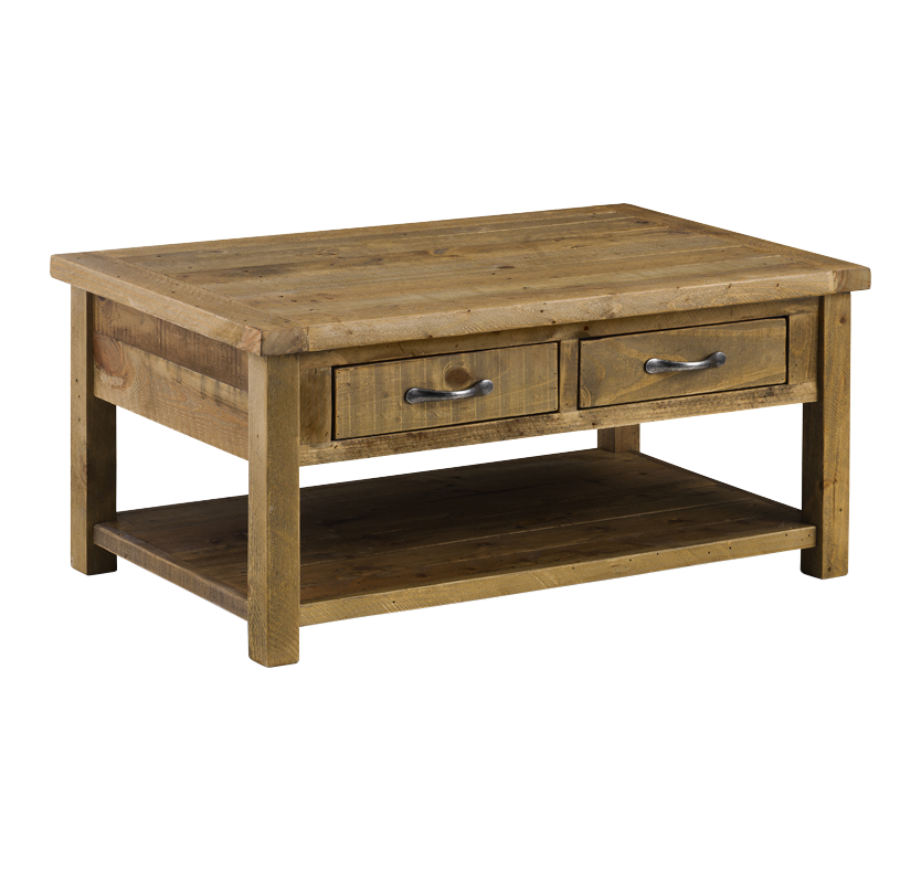 Woodsmith Coffee Table with 2 Drawers