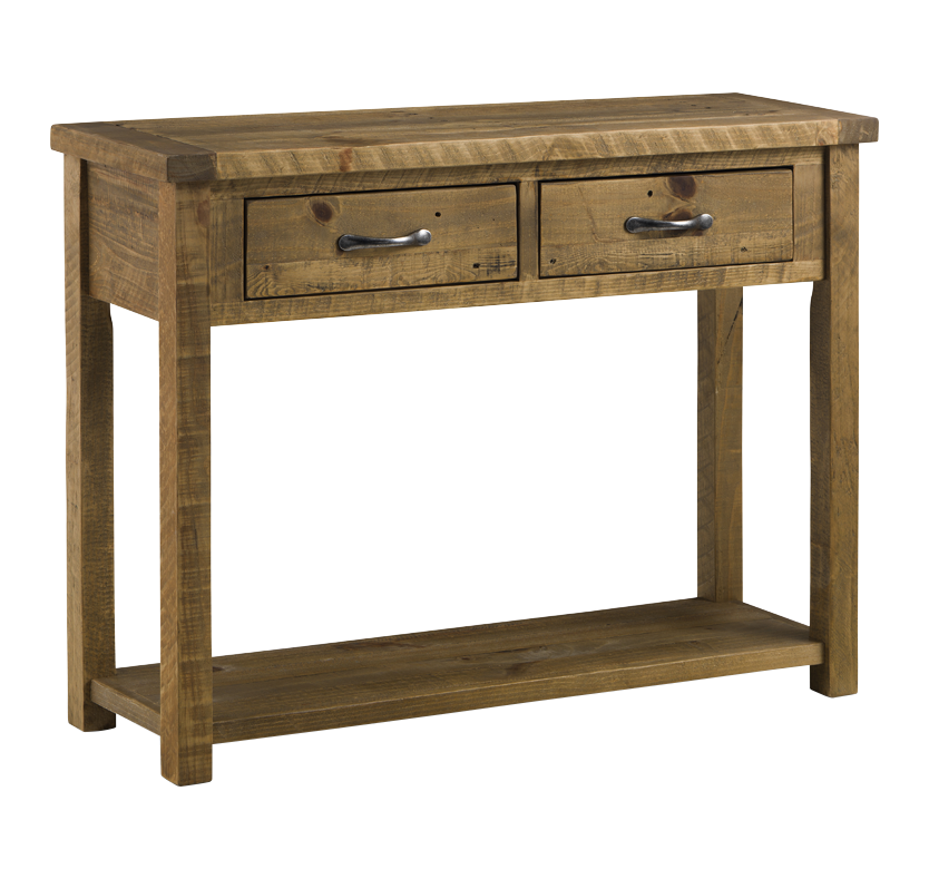 Woodsmith console table with 2 drawers matalan direct for Sofa table vs console table