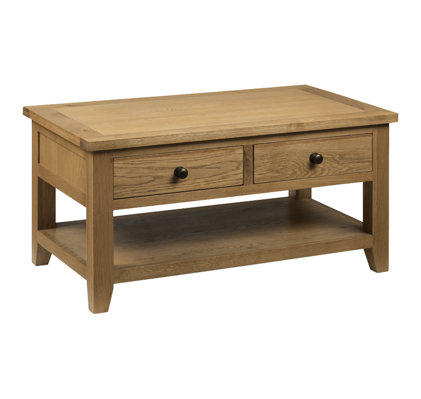 Portland Coffee Table with 2 Drawers