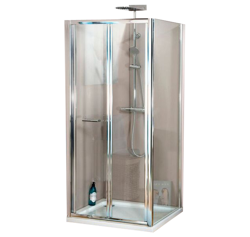 A4 Bi-Fold 6mm Shower Enclosure Set - 900mm x 760mm