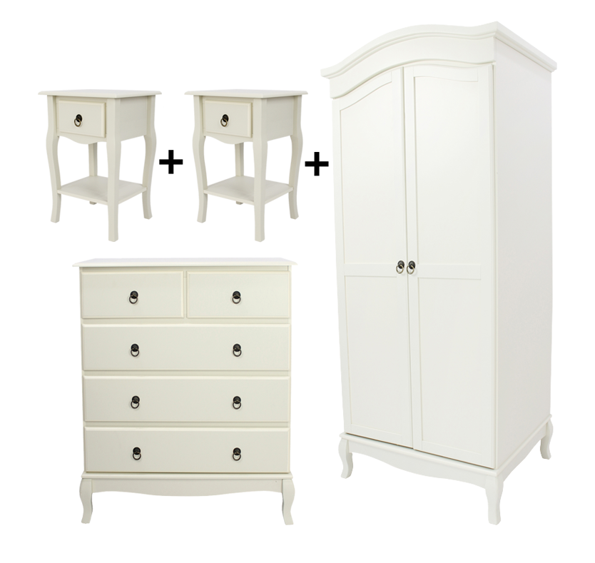 Mathilde Bedroom Furniture Set - Ivory