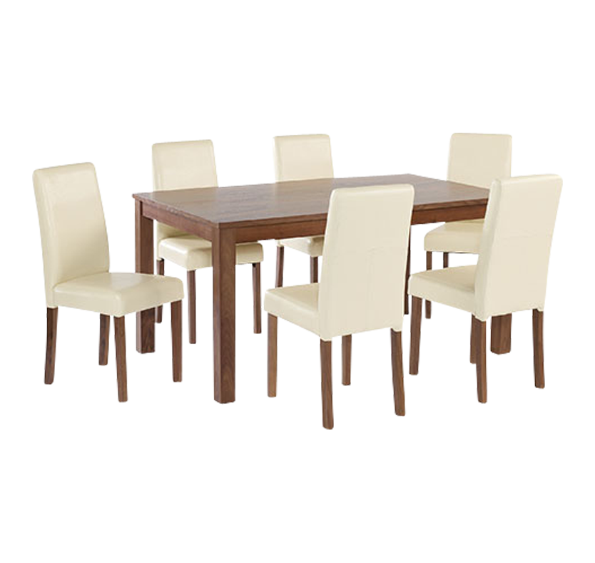 Clinton Large Dining Set Red