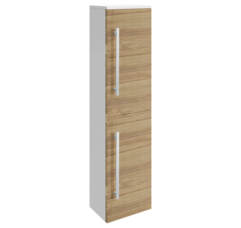 Select Design Wall-Mounted Tall Side Cabinet (Natural Walnut)