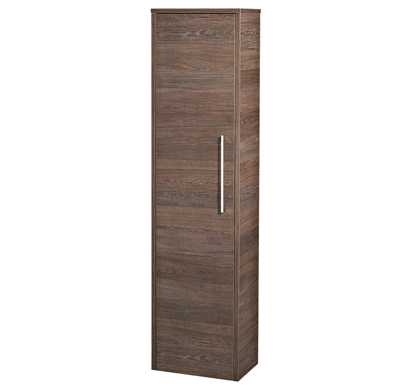 Hudson Reed Horizon Single Door Tall Unit (Mid Sawn Oak)