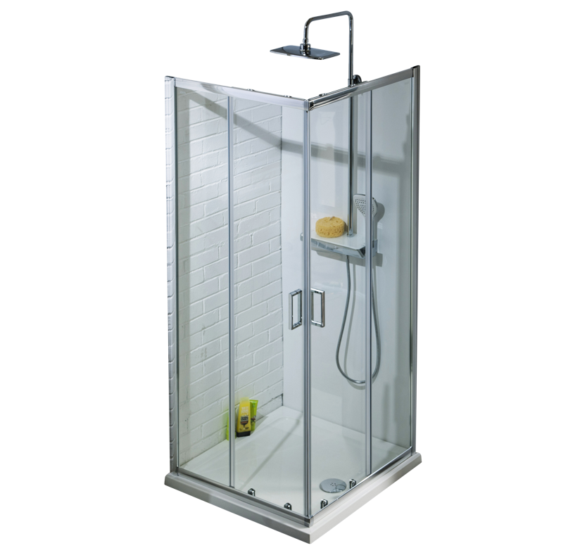 A4 6mm Corner Entry Shower Enclosure - 900mm x 900mm
