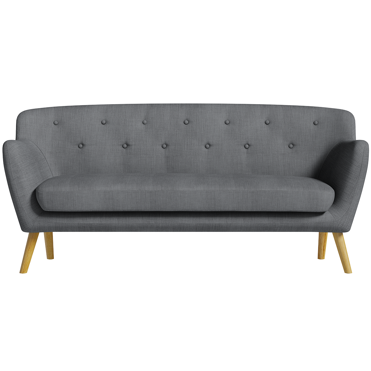 Holborn Large Sofa - Charcoal with Light-Coloured Legs