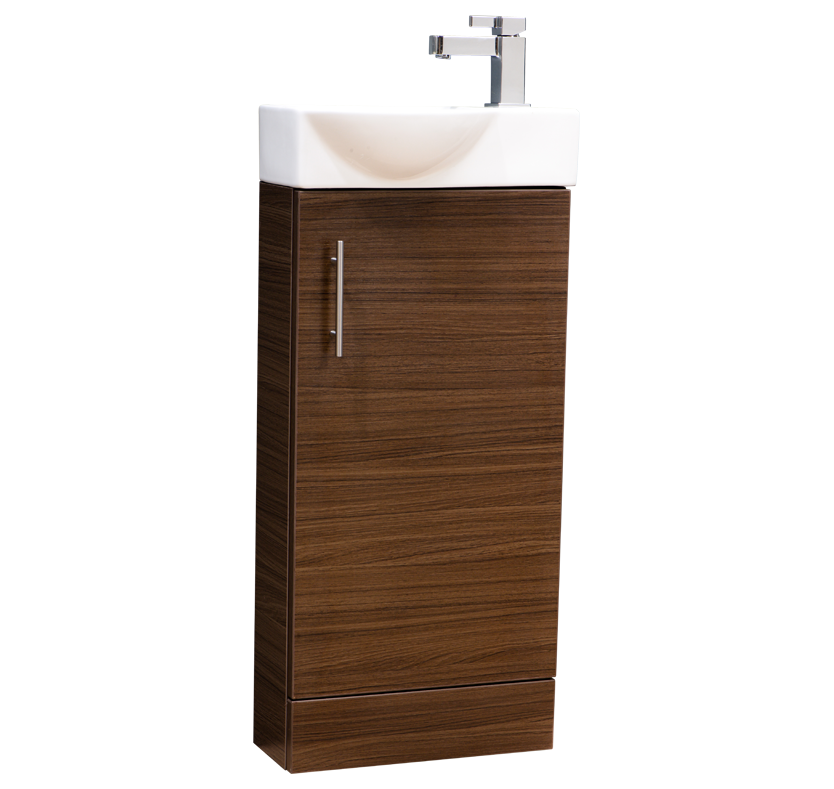 Zone 400mm Mini Cloakroom Unit - Walnut
