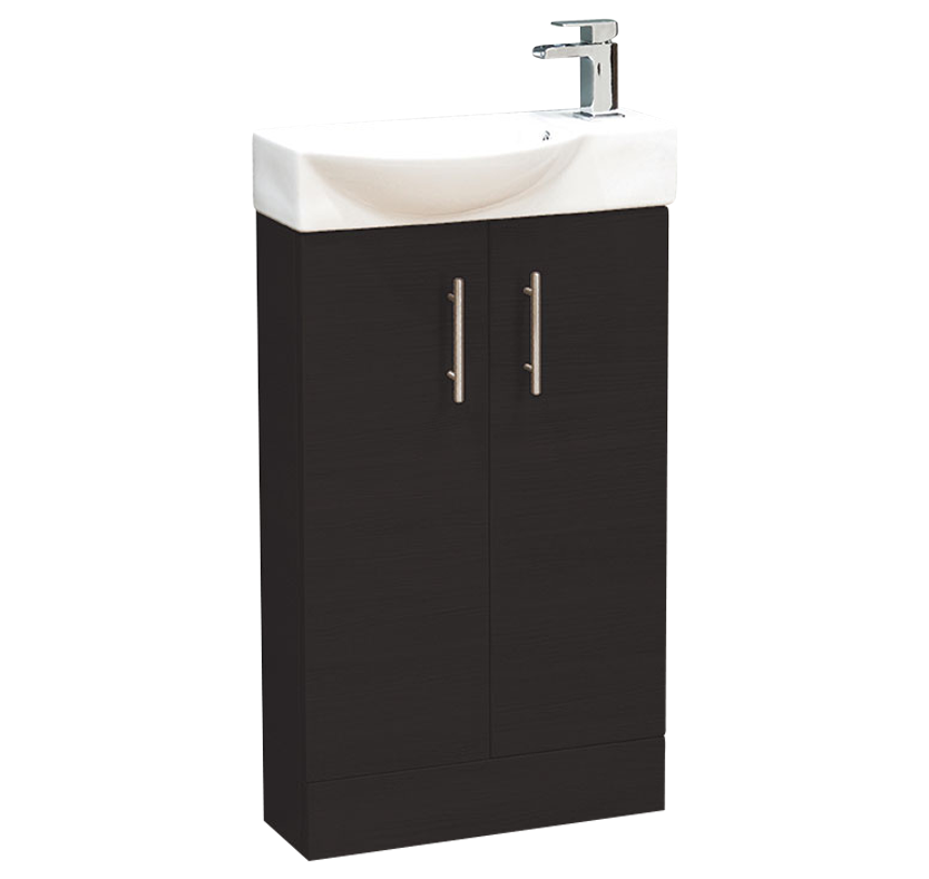 Zone 500mm Mini Vanity Unit - Black Ash