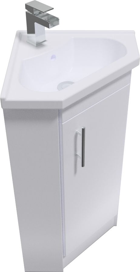 Corner vanity unit shop for cheap bathrooms and accessories and save online - Slim cloakroom basin ...