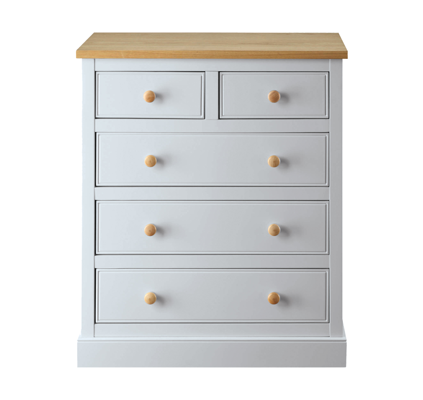 Corina 5 Drawer Dresser - Dove Grey
