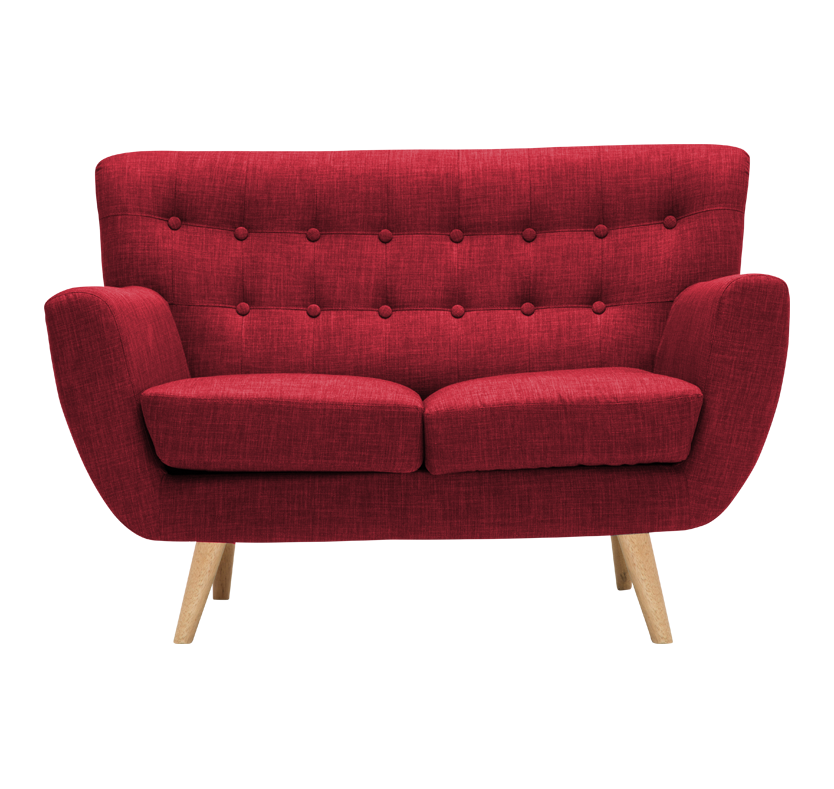 Crispin Small Sofa - Red