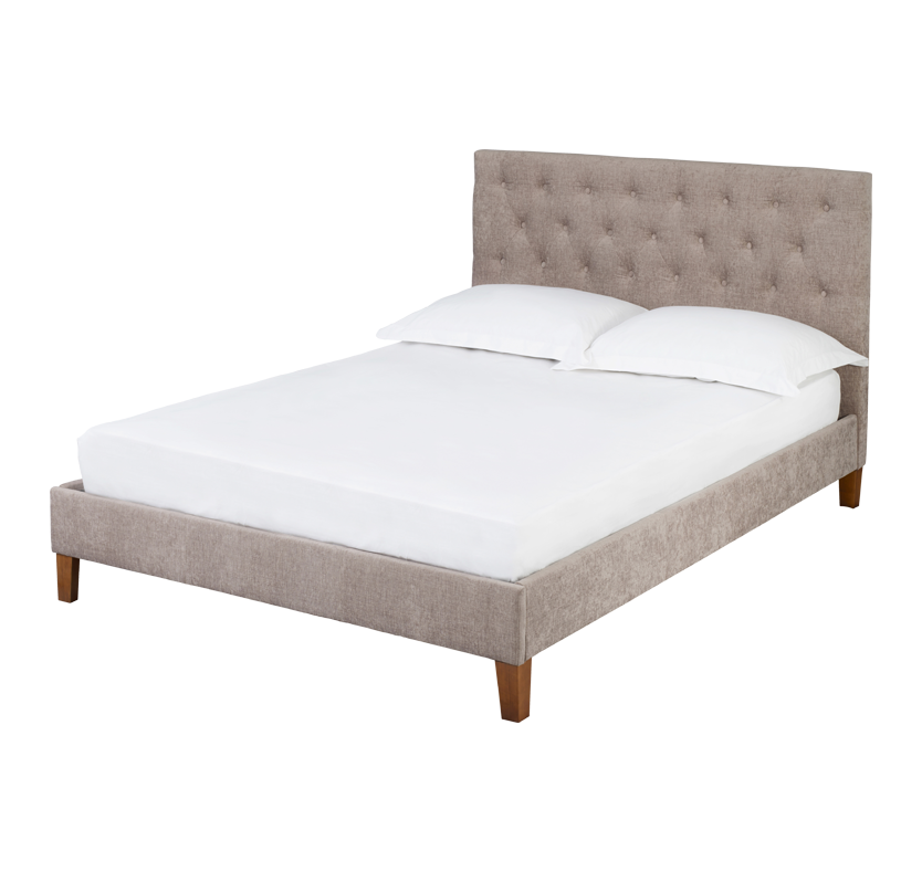 Pender Fabric Bed - Mink Double