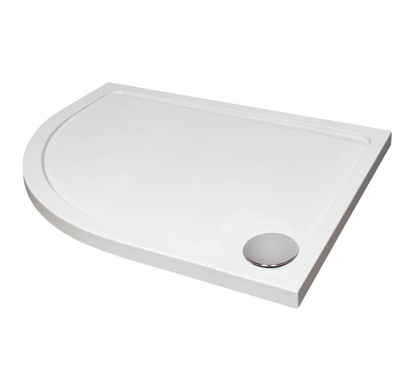 Fusion Designer Left-Hand Offset Quad Shower Tray with Waste 1000mm x 800mm