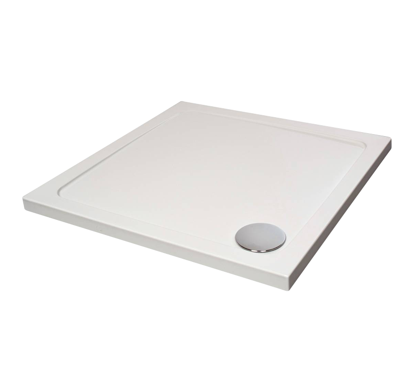 Fusion Designer Square Shower Tray with Waste 1000mm x 1000mm