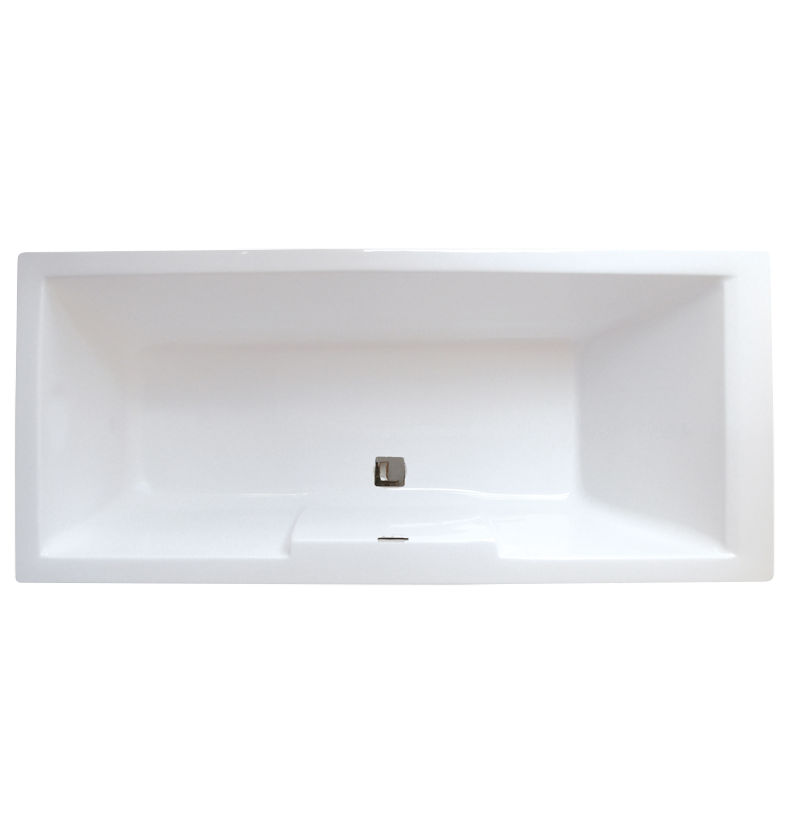District Square Double-Ended Straight Bath - 1700mm x 750mm
