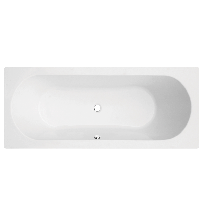 Sloane Round Double-Ended Straight Bath - 1700mm x 700mm