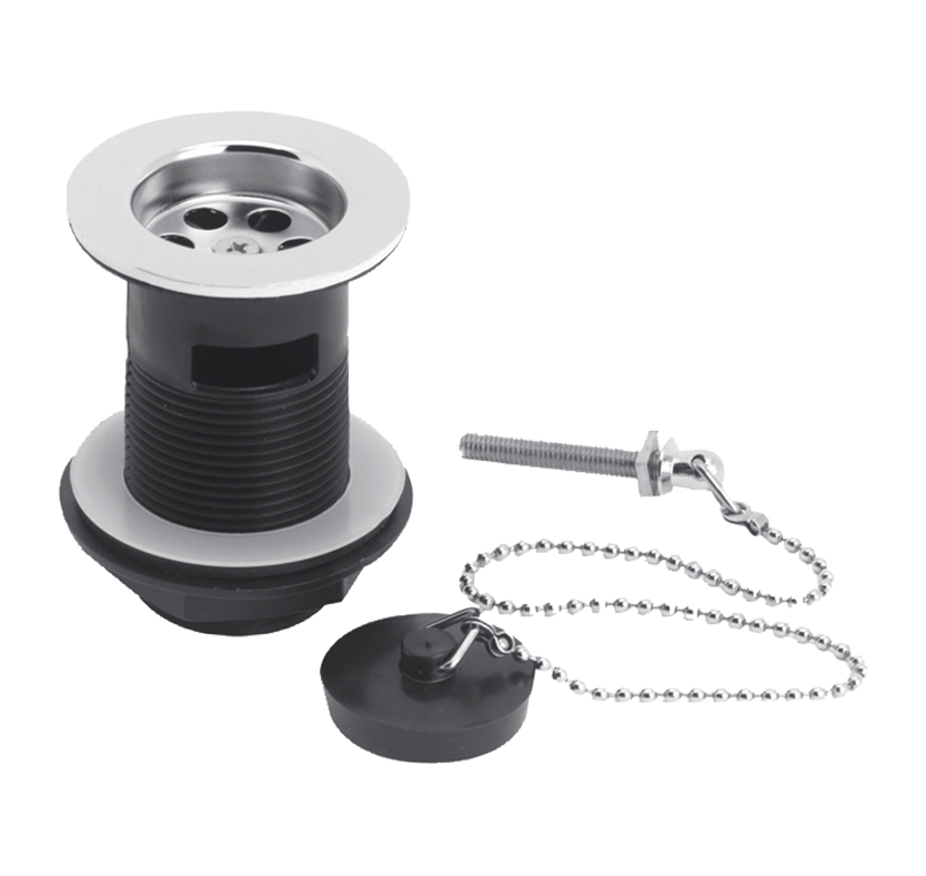 Select Contract Sink Slotted Waste With Poly Plug And Ball Chain