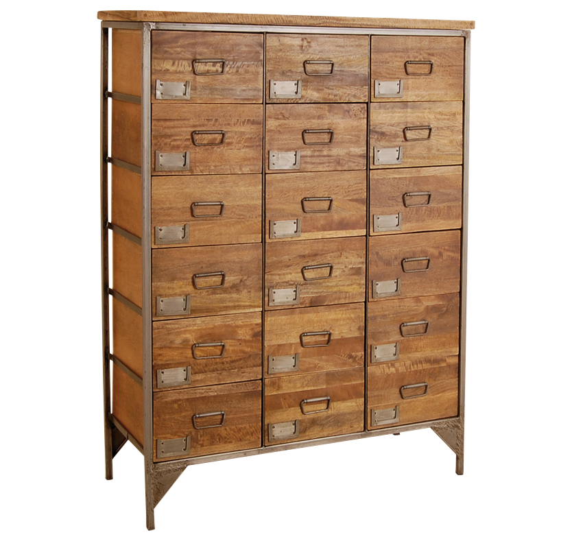 Coleman's 18 Drawer Re-Engineered Apothecary Chest