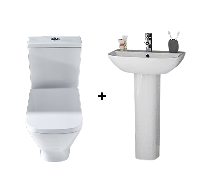 Small Wash Basin Price : F60 Moda Basin with Full Pedestal Enjoy a no fuss Italian design and ...
