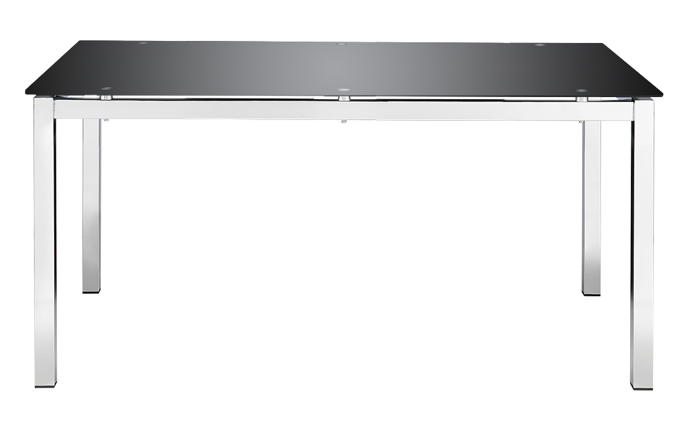 Jayden Dining Table - Black Glass