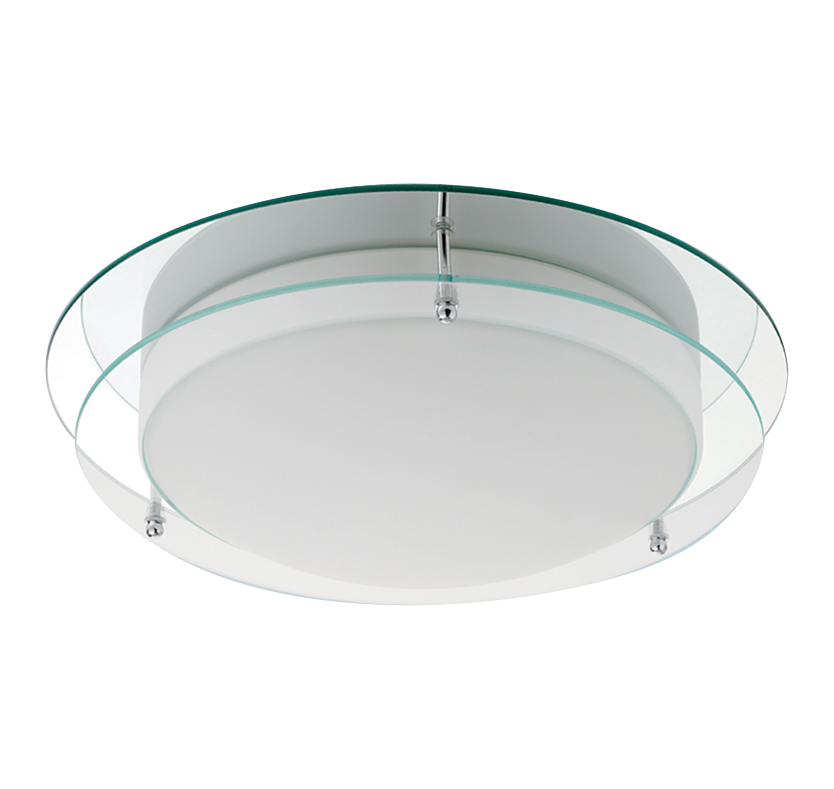 Lithic Mirrored Bathroom Ceiling Light