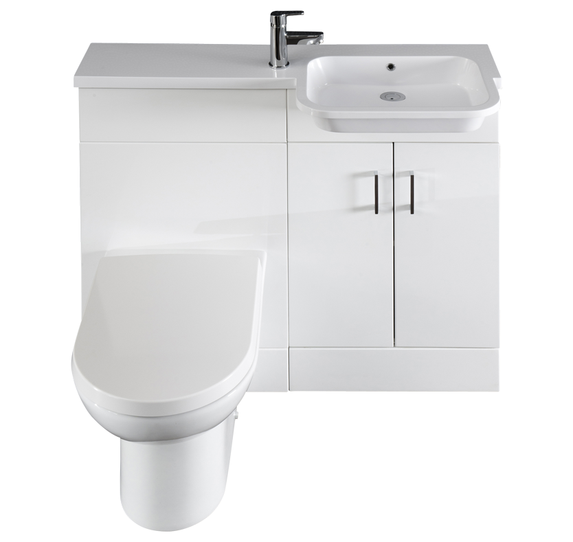 Smooth Right Handed Vanity and WC Unit