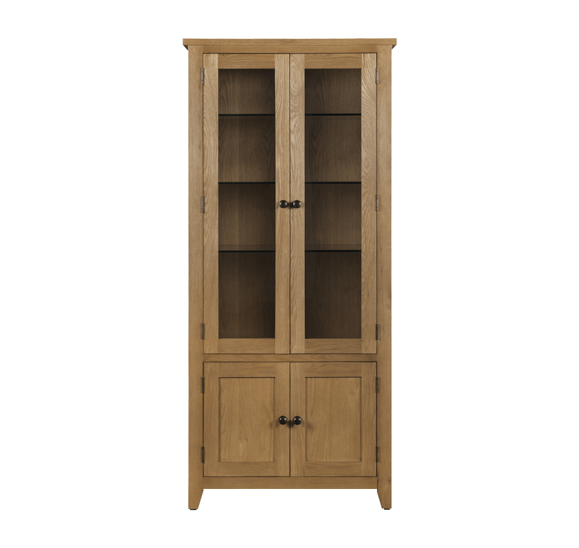 Portland Tall Glazed Display Cabinet