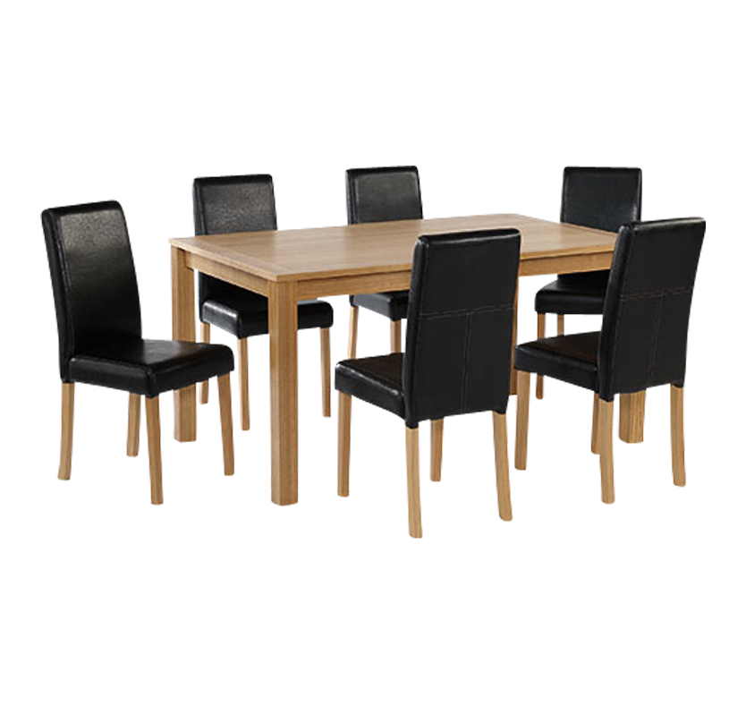 Newport Large Dining Set Brown