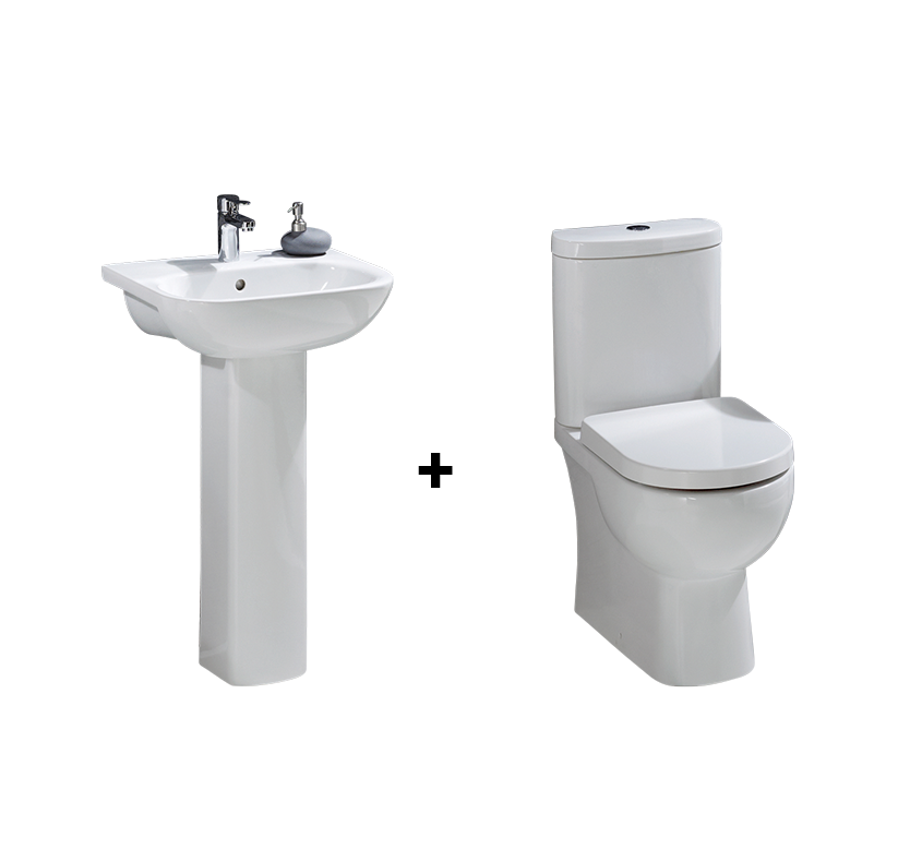 Lucina Full Pedestal Basin and Toilet Suite