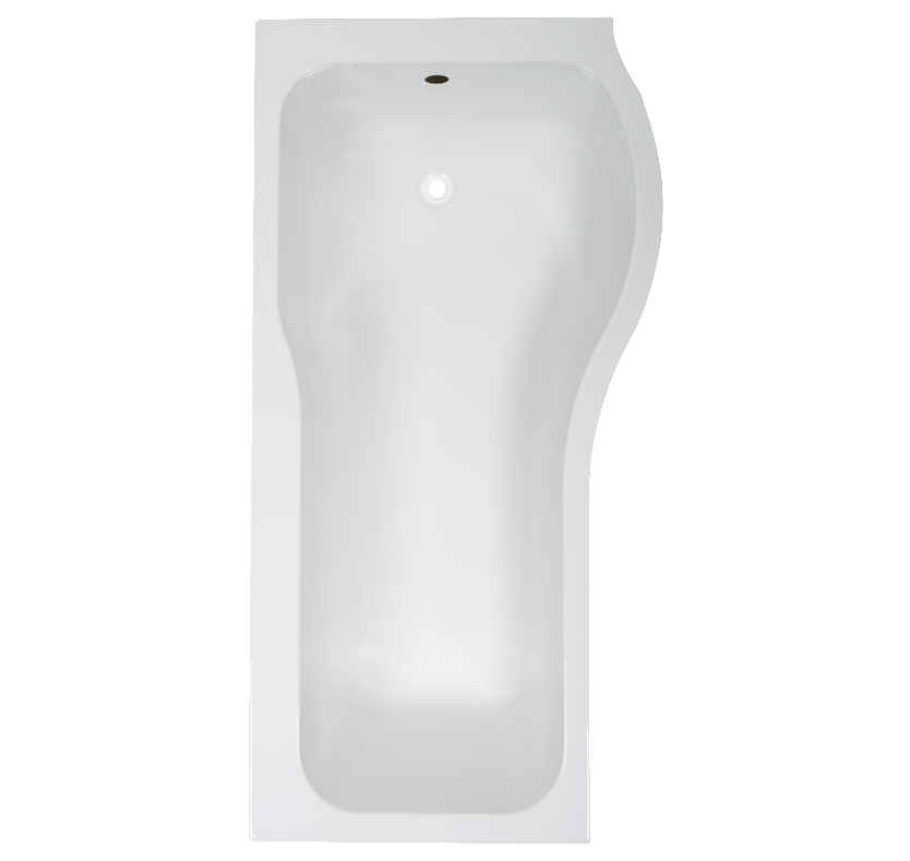 Deluxe Right-Hand P-Shaped Shower Bath with Front Panel and Screen - 1700mm