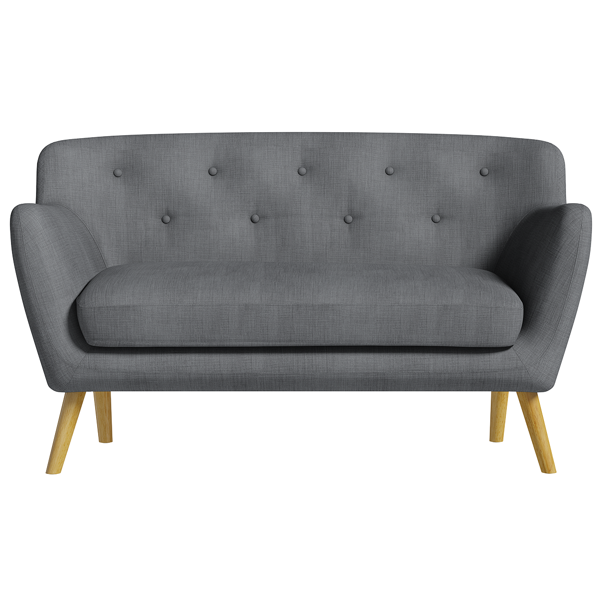 Holborn Medium Sofa - Charcoal with Light-Coloured Legs