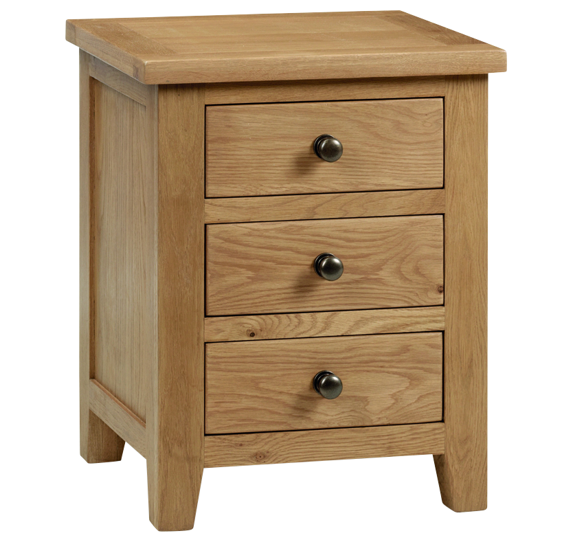 Nova Scotia 3 Drawer Bedside Table
