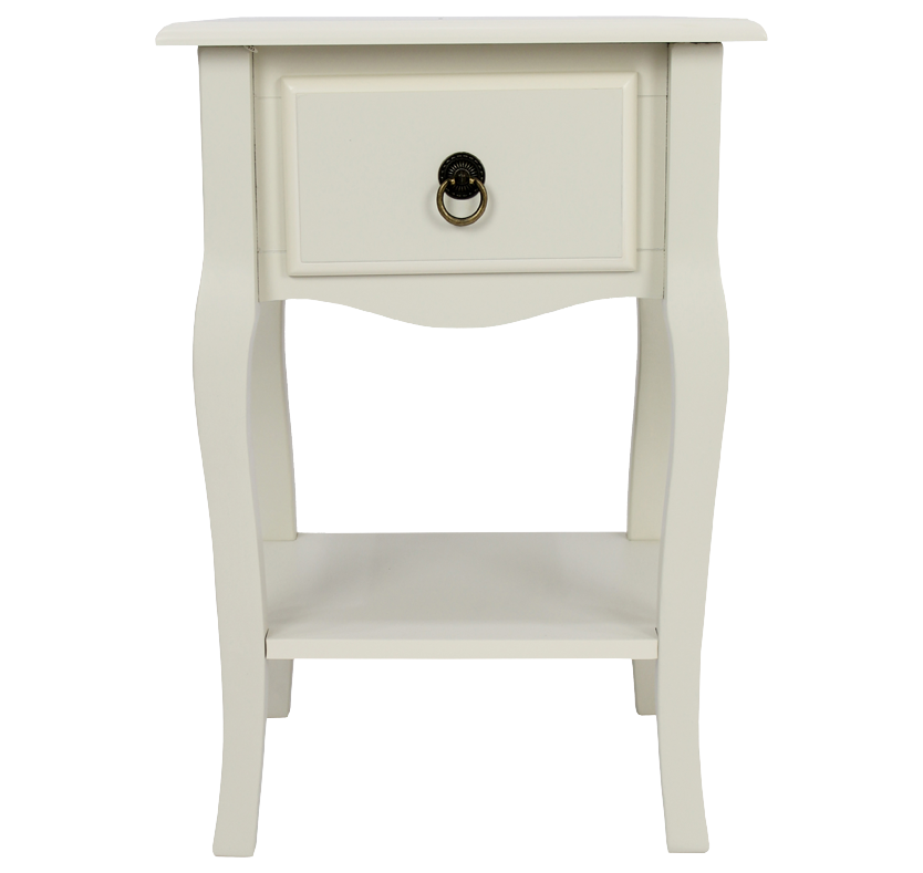 Mathilde 1 Drawer Bedside Table - Ivory