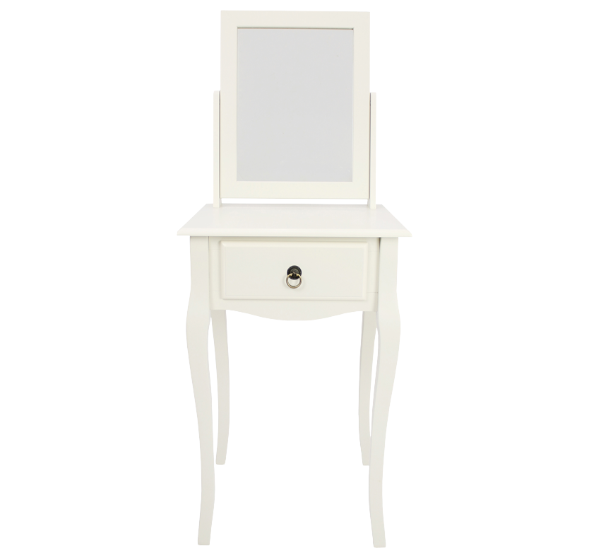 Mathilde 1 Drawer Dressing Table with Mirror - Ivory