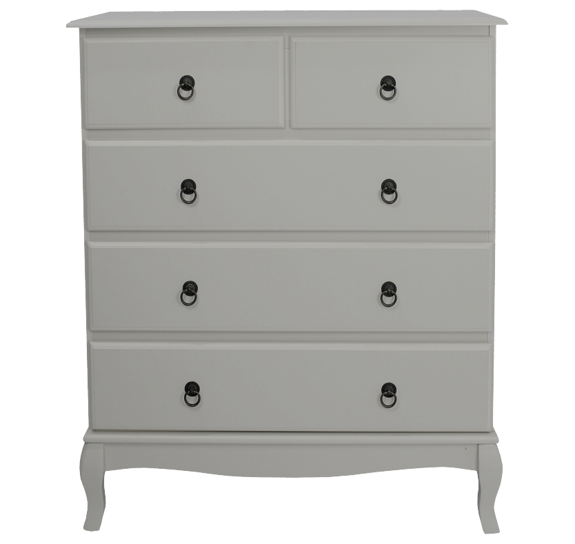 Mathilde 3+2 Drawer Chest - Soft Grey
