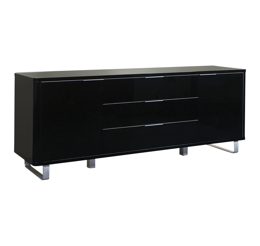 Mode 5 Compartment Sideboard - Black Gloss