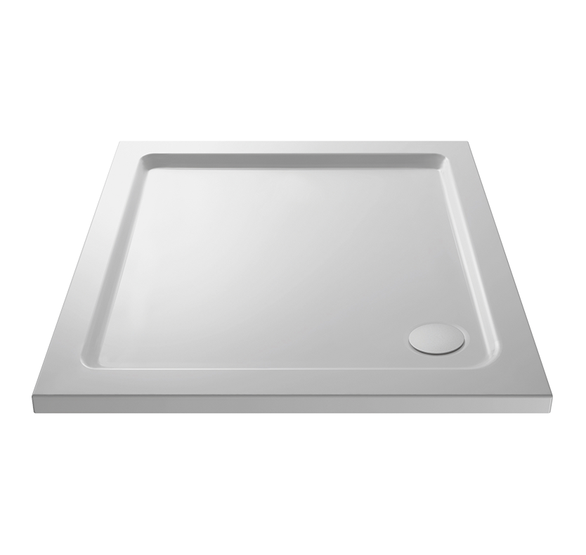 Essentials Pearlstone Rectangular Shower Tray With Corner Waste