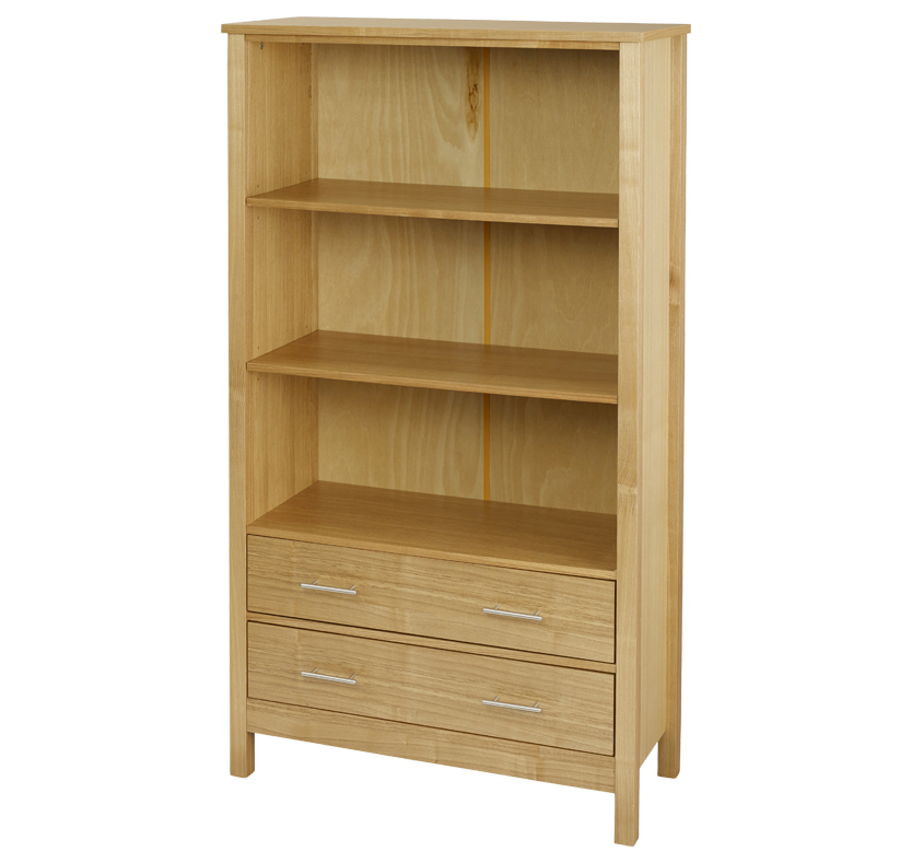 Newport 3 Tier Bookcase - Oak
