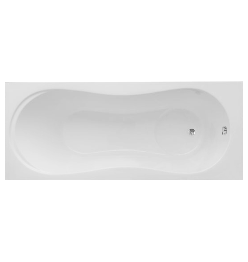 Hybridity Single-Ended Shower Bath - 1700mm x 800mm