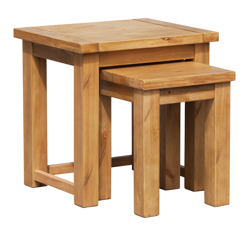Orkney 2 piece nest of tables pine matalan direct for Bodendirect uk