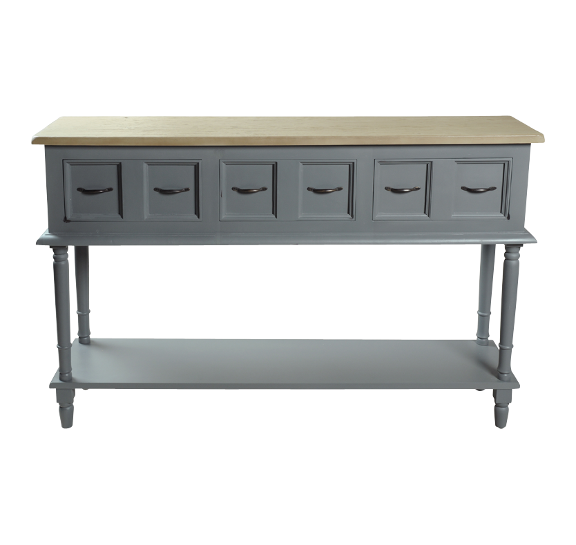 Minister 3 Drawer Sideboard with Shelf