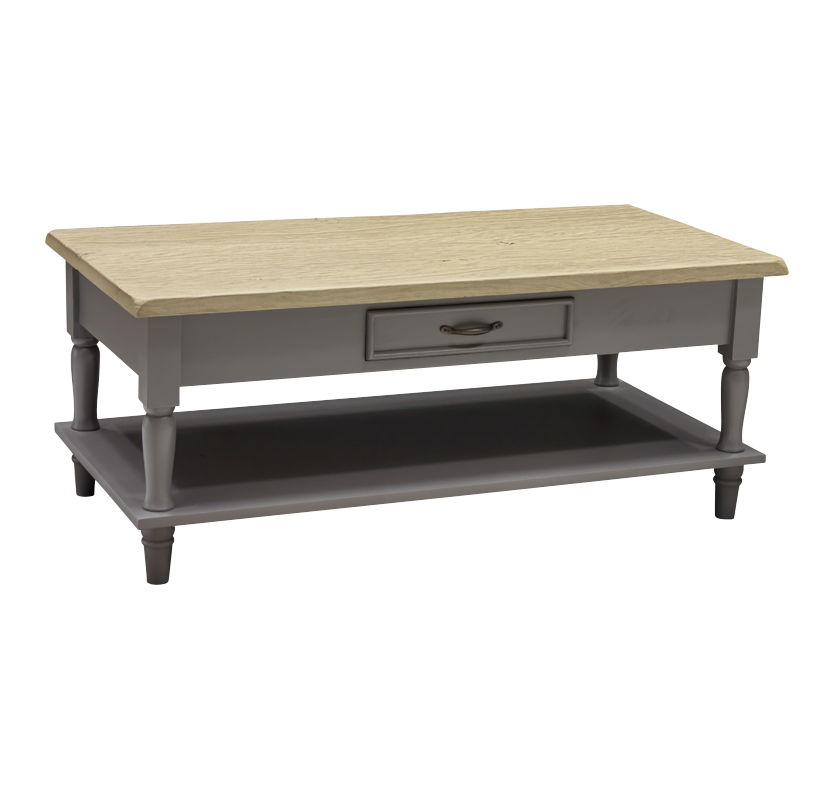 Minister 2 Drawer Coffee Table with Shelf
